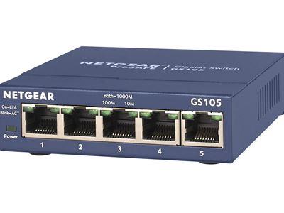 GS105 - 5-port Gigabit Ethernet Unmanaged Switches - Left