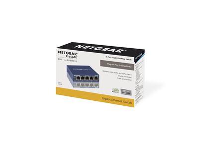 GS105 - 5-port Gigabit Ethernet Unmanaged Switches - 3D Box