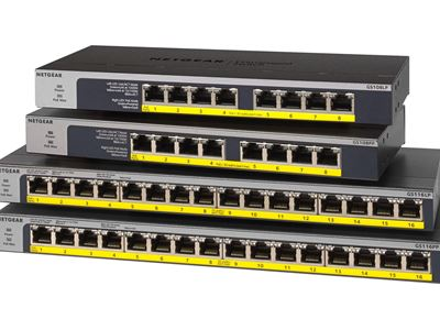 16-Port Gigabit Ethernet Unmanaged Switch GS116 - GS108-GS11 - Family Left