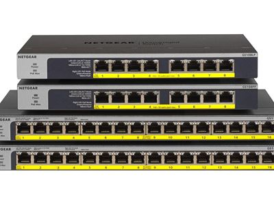 16-Port Gigabit Ethernet Unmanaged Switch GS116 - Family Front