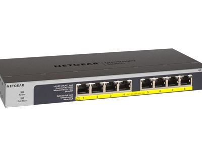 NETGEAR 8-Port Gigabit Ethernet PoEPoE + Unmanaged Switch GS108LP - Right