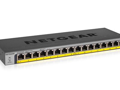 NETGEAR 16-Port PoEPoE+ Gigabit Ethernet Unmanaged Switch (GS116LP)