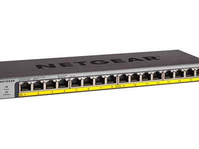 NETGEAR 16-Port PoEPoE+ Gigabit Ethernet Unmanaged Switch (GS116LP) - Right