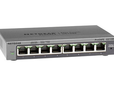 8-Port Gigabit Ethernet Smart Managed Plus Switch