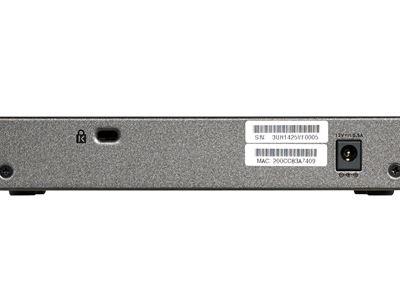 8-Port Gigabit Ethernet Smart Managed Plus Switch - Back