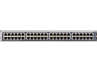 48-port Gigabit Ethernet Smart Managed Plus Switch with 2 SFP Ports (GS750E) - Front