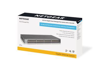 48-port Gigabit Ethernet Smart Managed Plus Switch with 2 SFP Ports (GS750E) - Box