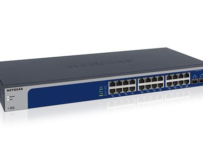 24-port 10-Gigabit/Multi-Gigabit Ethernet Smart Managed Plus Switch with 2 SFP+ ports