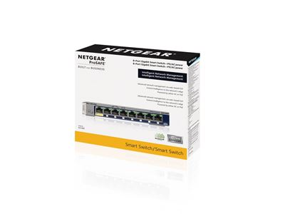 NETGEAR ProSAFE® 8-port Gigabit Smart Switch (GS108T)