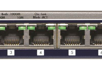 NETGEAR ProSAFE® 8-port Gigabit Smart Switch (GS108T)- Front