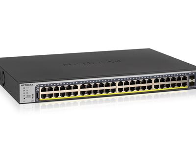 48-Port Gigabit Ethernet PoE+ Smart Managed Pro Switch with 4 SFP Ports and optional Insight Remote/Cloud Management (380W)