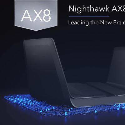 Nighthawk AX8 8-Stream AX6000 WiFi Router (RAX80)- Sizzle