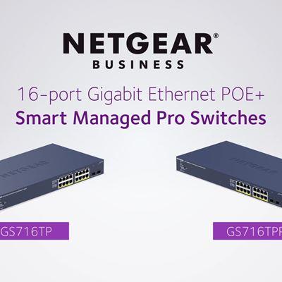 16 Port Gigabit Ethernet Smart Managed Pro Switch with 2 Dedicated SFP Ports NO URL