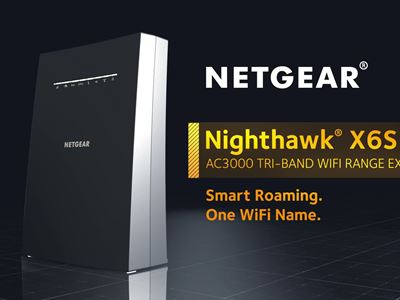 Nighthawk X6S AC3000 Tri-Band WiFi Mesh Extender EX8000