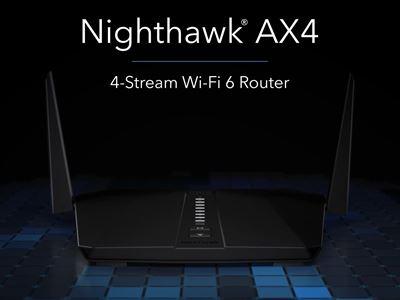 Nighthawk AX4 4 Stream AX3000 WiFi Router RAX40