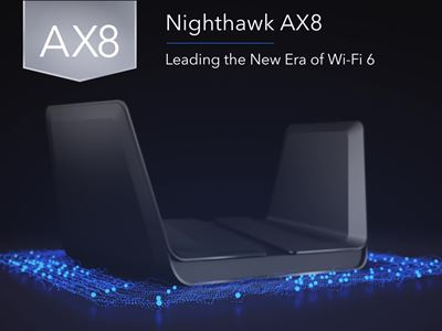 Nighthawk® AX8 8-Stream AX6000 WiFi Router (RAX80)