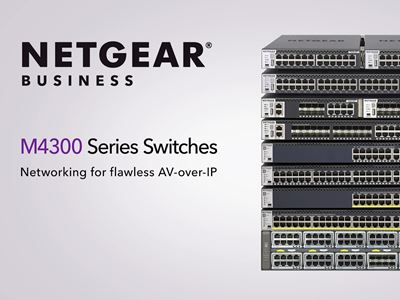 M4300-52G Stackable Managed Switch with 48x1G and 4x10G including 2x10GBASE-T and 2xSFP+ Layer 3 (GSM4352S)