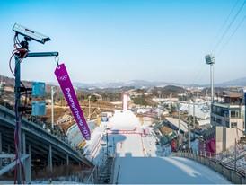 Camera at ski jump