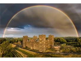 Drone Photography - People's Choice: Jon Clark Rainbow Over Riber Castle