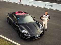 Triple Demo Run with first all-electric Porsche sports car
