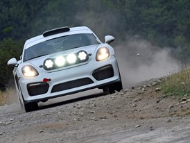 Concept study for rallying at the German WRC round: Porsche runs Cayman GT4 Clubsport as course car