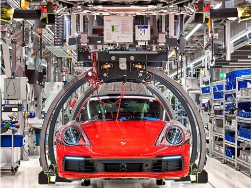 Porsche production - Reduced Co2