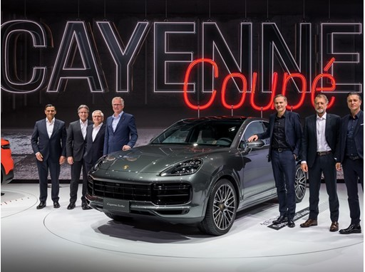 Asia premiere of the Cayenne Coupé at Auto Shanghai 2019: Michael Steiner, Member of the Executive Board, Research and..