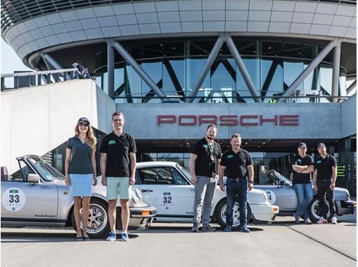 """Das Porsche-Team hat den zweiten Tag der """"Sachsen Classic"""" 2019 erfolgreich gemeistert: Maira Rothe - Moderatorin"""