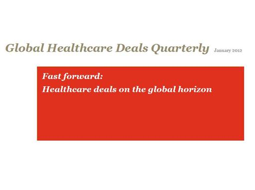 Global Healthcare deals Newsletter (cover image)