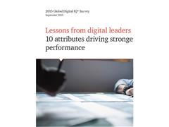 PwC's 2015 Digital IQ™ Survey links 10 key company actions directly to stronger financial performance