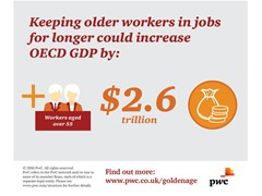 Keeping older workers in jobs for longer could increase OECD GDP by $2.6 trillion, says PwC