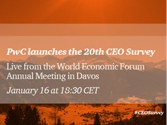 Davos 2017: Join PwC's CEO Survey press briefing & webcast 18:30 CET Monday 16th January 2017