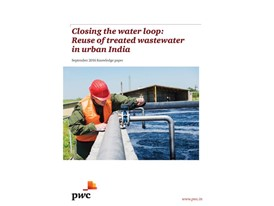 Closing the water loop: Reuse of treated wastewater in urban India