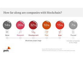 Graphic:What stage are organisations at in Blockchain developments?