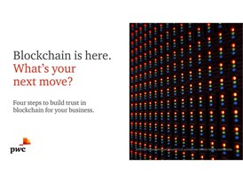 Image: title page of PwC Blockchain Study available at www.pwc.com/blockchainsurvey.