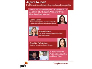 PwC to host third forum on leadership and gender equality in Hollywood