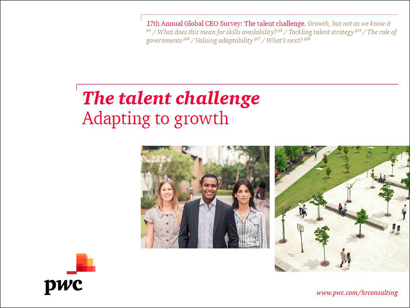 The talent challenge--Adapting to growth
