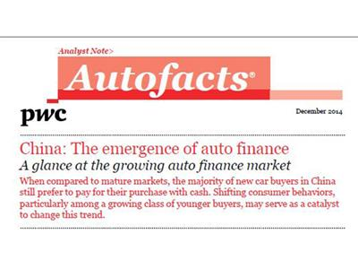 Majority Rules – Most Chinese Car Buyers Prefer Cash Purchases, but PwC Study Shows Trend is Toward Increased Financing