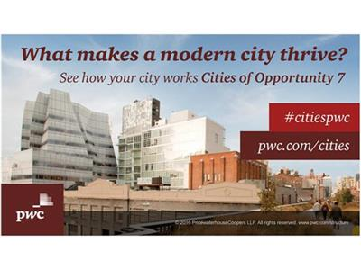 London ranks top in PwC Cities of Opportunity Index, followed by Singapore and Toronto