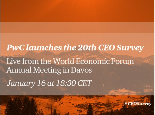 PwC launches the 20th CEO Survey