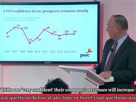 PwC CEO Survey Davos Press Conference Part 1