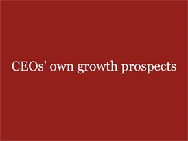 CEO's own growth prospects