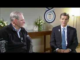 Jacques Rogge, IOC President and Marc Pritchard, CMO, P&G