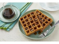 Butter Pecan Waffles with Bourbon Syrup