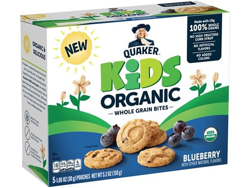Quaker Kids Organic Whole Grain Bites Blueberry