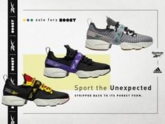 """リーボックの90年代アイコンモデルを融合した「SOLE FURY」にアディダスの革新的なクッショニングテクノロジー""""ブースト""""を搭載「SOLE FURY BOOST」 2019年11月22日(金)発売"""