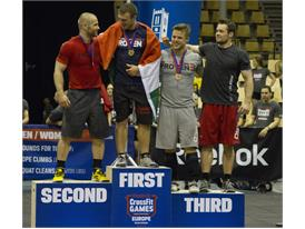 2013 Men's podium European Regionals
