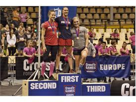 2013 Women's podium European Regionals