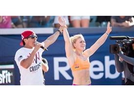 Katrin Davidsdottir Celebrates Victory