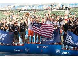 Team CrossFit Mayhem Freedom on Podium